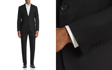 Emporio Armani M-Line Tonal Crosshatch-Pattern Classic Fit Suit - 100% Exclusive - Bloomingdale's_2
