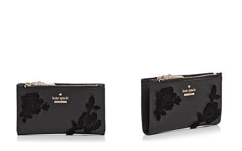 kate spade new york Cameron Street Velvet Roses Leather Wallet - Bloomingdale's_2