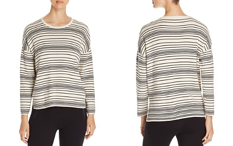 Eileen Fisher Petites Striped Organic-Cotton Top - Bloomingdale's_2