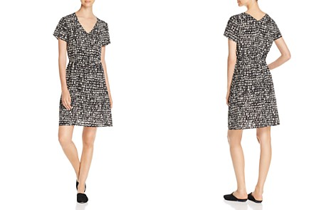 Eileen Fisher Printed Silk Drawstring Dress - Bloomingdale's_2