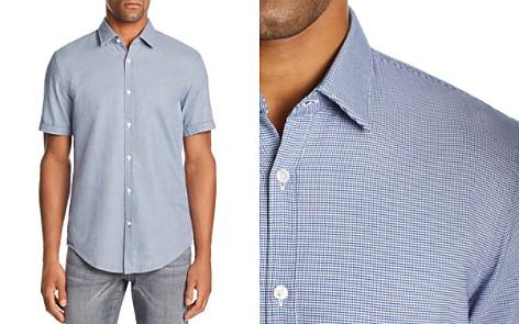 BOSS Ronn Short-Sleeve Micro-Grid-Print Slim Fit Shirt - Bloomingdale's_2