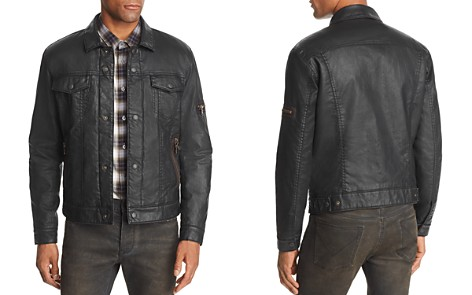 John Varvatos Star USA Sherpa-Lined Coated Denim Jacket - 100% Exclusive - Bloomingdale's_2