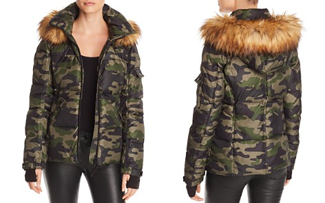 AQUA Faux Fur-Trim Camo Hooded Puffer Jacket - 100% Exclusive - Bloomingdale's_2