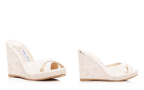 Jimmy Choo Women's Almer 105 Woven Platform Wedge Slide Sandals - Bloomingdale's_2