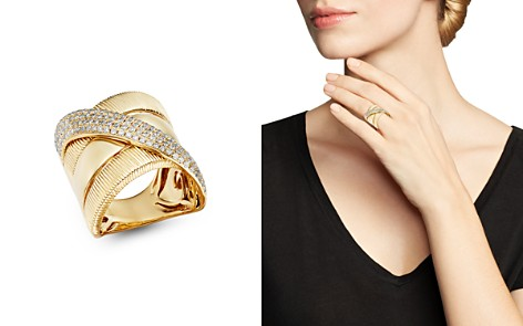 Bloomingdale's Diamond Crossover Statement Ring in 14K Yellow Gold, 0.75 ct. t.w. - 100% Exclusive_2