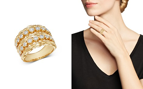 Bloomingdale's Diamond Five-Row Statement Band in 14K Yellow Gold, 1.05 ct. t.w. - 100% Exclusive_2