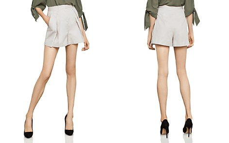 BCBGMAXAZRIA Pleated Shorts - Bloomingdale's_2