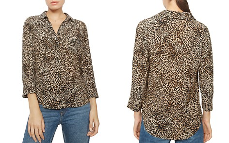 Anine Bing Billie Leopard Silk Shirt - Bloomingdale's_2