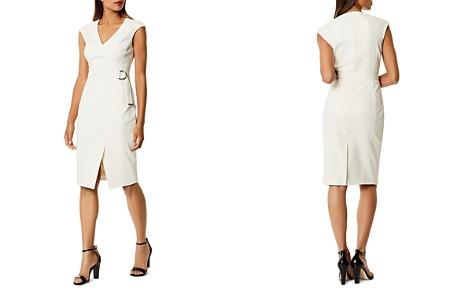 KAREN MILLEN Cap Sleeve Faux-Wrap Dress - Bloomingdale's_2