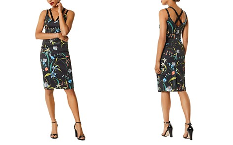 KAREN MILLEN Strappy Floral Print Sheath Dress - Bloomingdale's_2