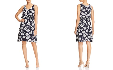 B Collection by Bobeau Lane Floral-Print Overlay Dress - 100% Exclusive - Bloomingdale's_2