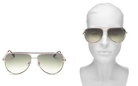 Quay Women's High Key Aviator Sunglasses, 56mm - Bloomingdale's_2