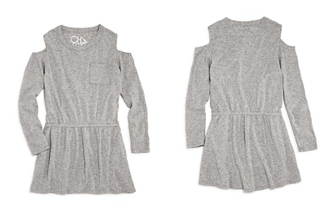 CHASER Girls' Cold-Shoulder Shirt Dress - Little Kid, Big Kid - Bloomingdale's_2
