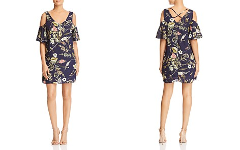 B Collection by Bobeau Floral-Print Cold-Shoulder Dress - 100% Exclusive - Bloomingdale's_2