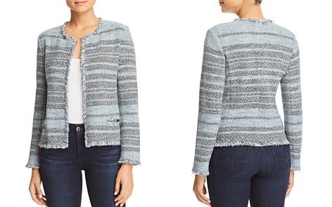 NIC+ZOE Striped Tweed Open Jacket - Bloomingdale's_2