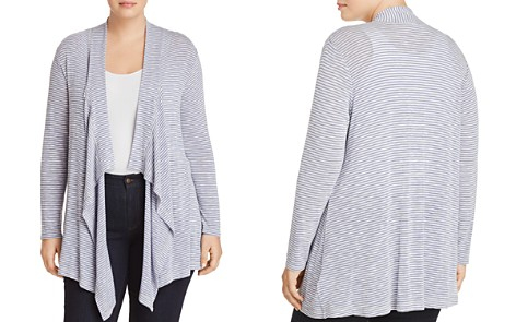 B Collection by Bobeau Curvy Lightweight Striped Open Cardigan - Bloomingdale's_2