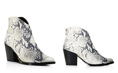 AQUA Women's Pose Pointed-Toe Snake Skin-Embossed Leather Mid-Heel Booties - 100% Exclusive - Bloomingdale's_2