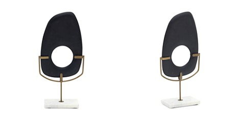 Mitchell Gold Bob Williams Tall Matte Black Wood Sculpture on Stand - Bloomingdale's_2