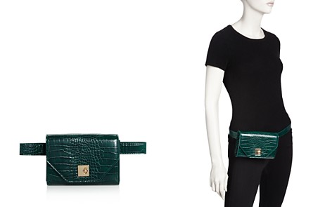 AQUA Medium Croc-Embossed Convertible Belt Bag - 100% Exclusive - Bloomingdale's_2