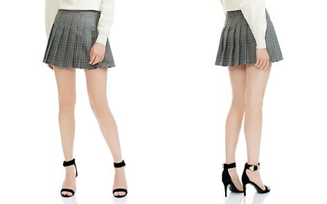 Maje Jalaime Pleated Plaid Mini Skirt - Bloomingdale's_2