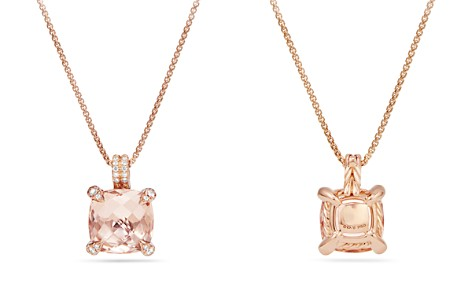 David Yurman Chatelaine Pendant Necklace with Morganite & Diamonds in 18K Rose Gold - Bloomingdale's_2
