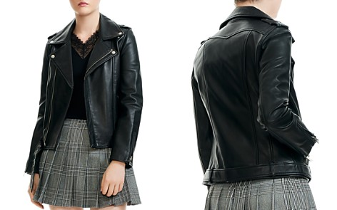 Maje Bocelix Leather Moto Jacket - Bloomingdale's_2