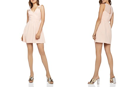 BCBGeneration Sheer Back Fit-and-Flare Dress - Bloomingdale's_2