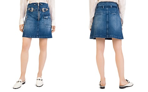 The Kooples Western Buckle Denim Skirt - Bloomingdale's_2