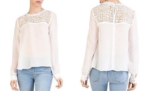 The Kooples Lace-Inset Silk Top - Bloomingdale's_2