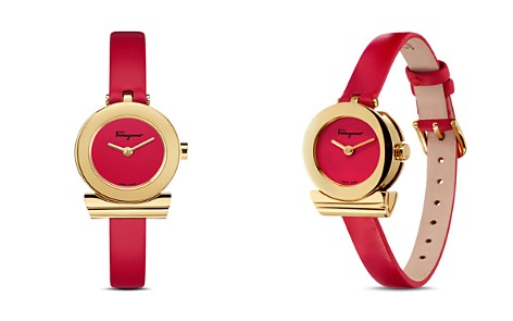 Salvatore Ferragamo Gancino Red Strap Watch, 22mm - Bloomingdale's_2