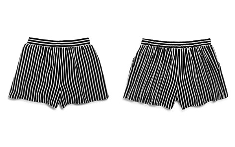 AQUA Girls' Striped Shorts, Big Kid - 100% Exclusive - Bloomingdale's_2