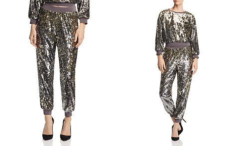 Alice + Olivia Pete Sequined Jogger Pants - Bloomingdale's_2
