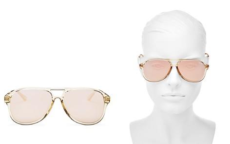 Quay Women's Under Pressure Mirrored Brow Bar Aviator Sunglasses, 56mm - Bloomingdale's_2