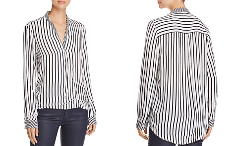 BeachLunchLounge Striped Faux-Wrap Shirt - Bloomingdale's_2