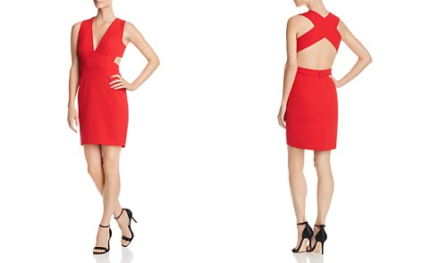 Aidan by Aidan Mattox Scuba Crepe Cutout Dress - 100% Exclusive - Bloomingdale's_2