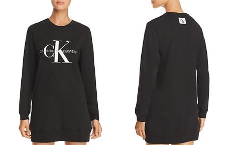 Calvin Klein Monogram Lounge Long Sleeve Sleepshirt - Bloomingdale's_2