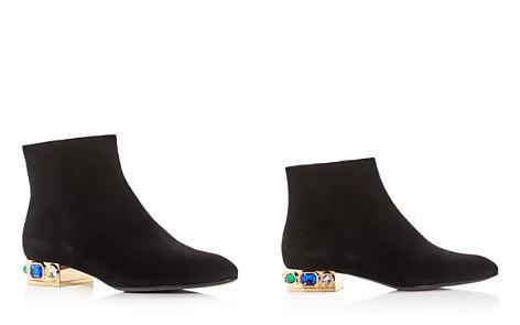 Casadei Women's Bisan Suede Embellished Low-Heel Booties - Bloomingdale's_2