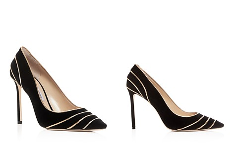 Jimmy Choo Women's Romy 100 Suede & Metallic Leather High-Heel Pointed Toe Pumps - Bloomingdale's_2