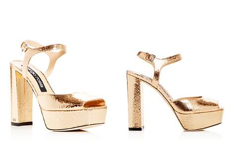 Sergio Rossi Women's Crackled Leather High Block-Heel Platform Sandals - Bloomingdale's_2