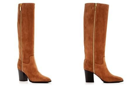 Sergio Rossi Women's Suede Block-Heel Boots - Bloomingdale's_2