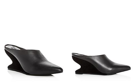 JAGGAR Women's Leather & Suede Sculpted Wedge Mules - Bloomingdale's_2
