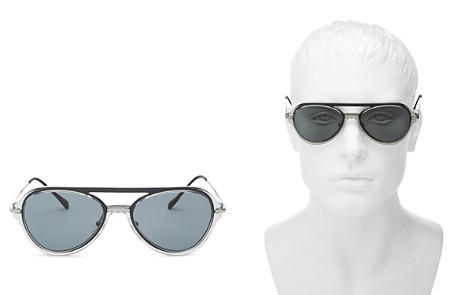 Prada Men's Linea Rossa Spectrum Brow Bar Aviator Sunglasses, 57mm - Bloomingdale's_2
