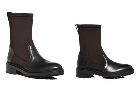 Aquatalia Women's Leoda Weatherproof Leather & Neoprene Low-Heel Boots - Bloomingdale's_2