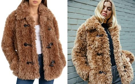 Avec Les Filles Faux Fur Toggle Coat - Bloomingdale's_2