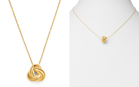 """Bloomingdale's Knot Pendant Necklace in 14K Yellow Gold, 18"""" - 100% Exclusive_2"""