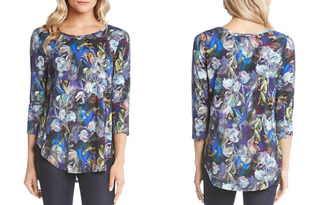 Karen Kane Floral-Print High/Low Top - Bloomingdale's_2