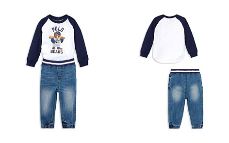 Ralph Lauren Boys' Tee & Denim Jogger Pants Set - Baby - Bloomingdale's_2