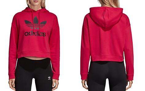 adidas Originals Trefoil Cropped Hooded Sweatshirt - Bloomingdale's_2