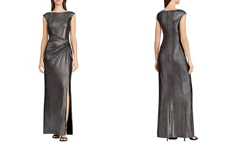 Lauren Ralph Lauren Metallic Draped Gown - Bloomingdale's_2