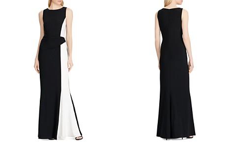 Lauren Ralph Lauren Color-Blocked Jersey Gown - Bloomingdale's_2